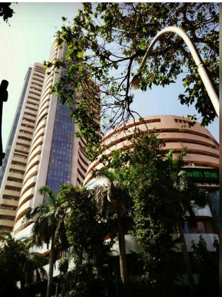 The Bombay stock exchange.