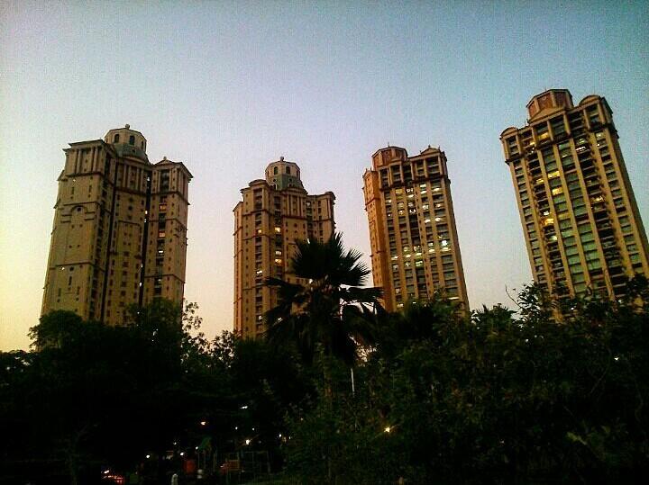 Hiranandani gardens, Powai during evenings.