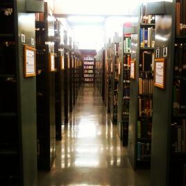 IIM-A library corridors.