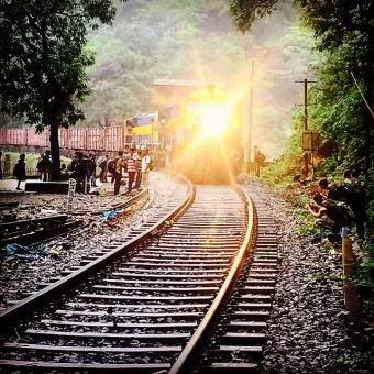 Dudhsagar rail track.