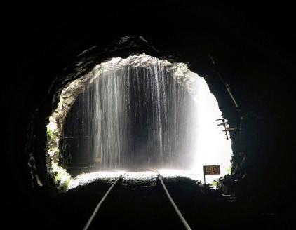 Tunnel to Dudhsagar waterfall