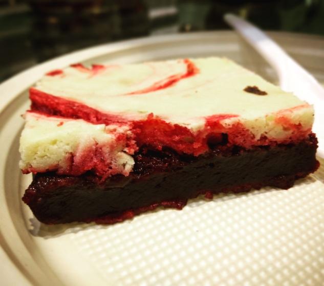 Red velvet Brownie @theobroma Powai