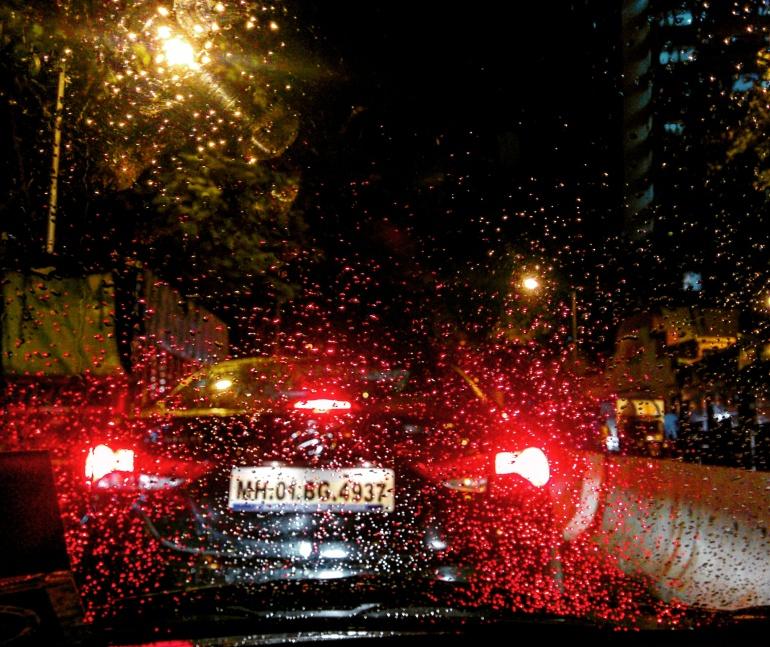 Mumbai rains and the traffic.