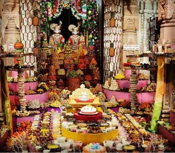 Chappan Bhog to Lord during Hindu New year .