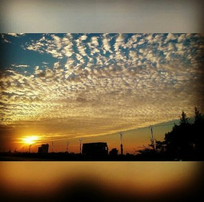Beautiful sky during an evening @Bharuch
