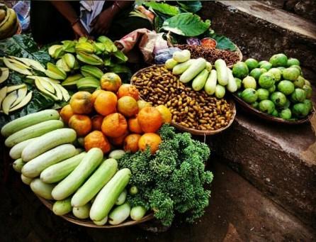 Fresh veggies at SGNP.