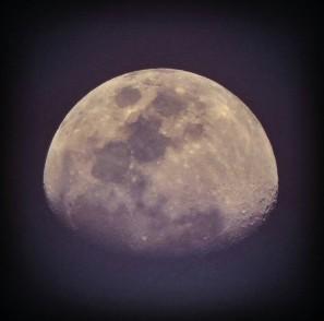 Moon from Juhu Beach