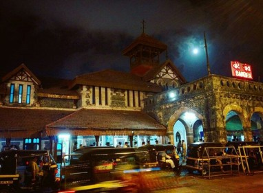 Beautiful Bandra station in Moonlight