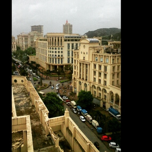 View from the old desk, Hianandani, Powai