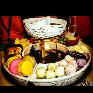 Chocolate fodue @Haagen Daaz, Powai