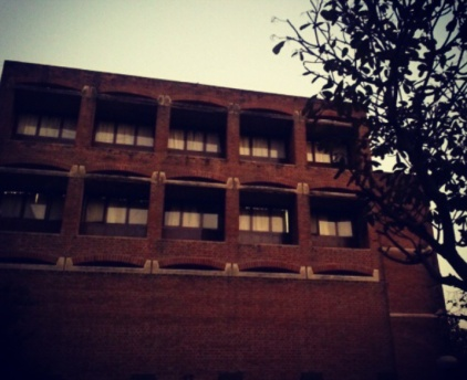 Library back side @IIM-A, Ahmedabad
