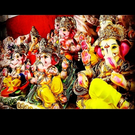 Ganaati bappa lined up @Bharuch
