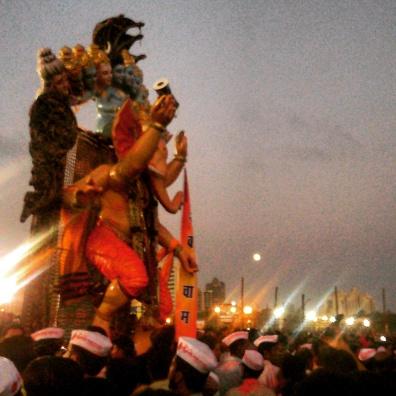 Ganapati visarjan @Girgaon Chowpaty