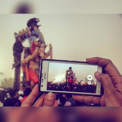 Ganapati visarjan captured @Girgaon Chowpaty