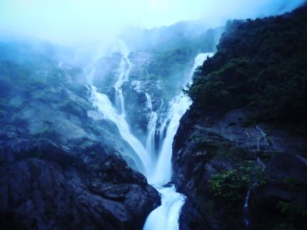 The magnificient @Dudhsagar Waterfalls, Goa