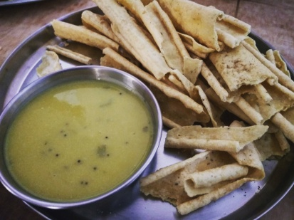 Right from the Gujju land-Fafda with besan chutney @Bharuch