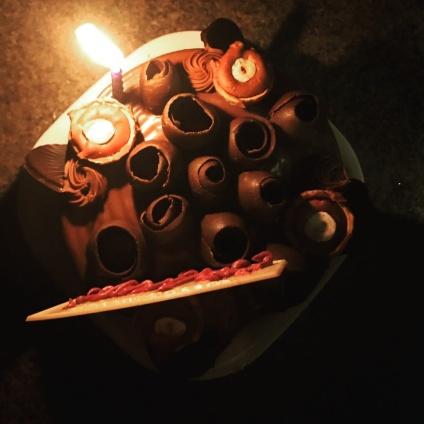 Dutch truffle birthday cake @Death by chocolate, Powai