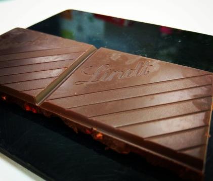 Lindt strawberry chocolate @Andheri