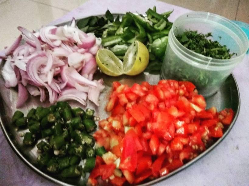 Veg mix-veg pulao in making @Andheri east