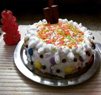Home made Pillsbury Cooker cake @Bharuch