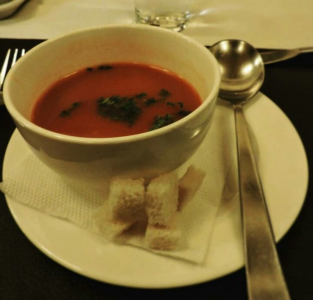 Tomato basil soup @Little italy, Bangalore
