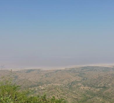 When far far you can see the India Pakistan Border @Kutch